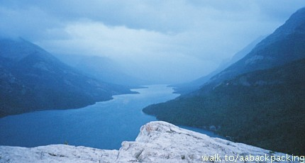 Upper Waterton Lake from Bears Hump, looking South